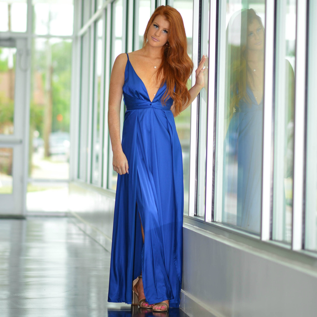 Formalwear So Stunning In Satin Royal Blue Formal Dress