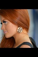 Jewelry 34 Raffan Leopard & Acrylic Disc Earrings
