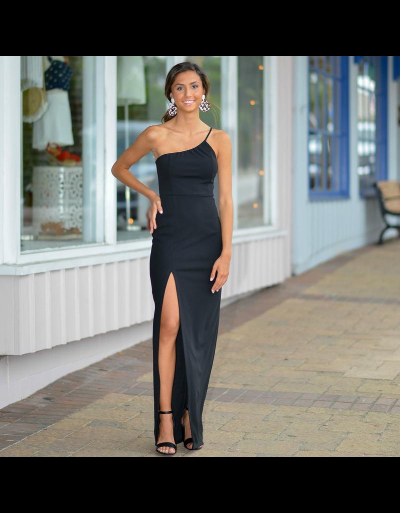 Dresses 22 A Formal Encounter One Shoulder Long Black Dress