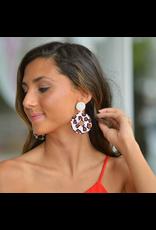 Jewelry 34 Leopard Pattern Circle Bead Earrings