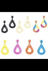 Jewelry 34 Raffia Woven Teardrop Earrings