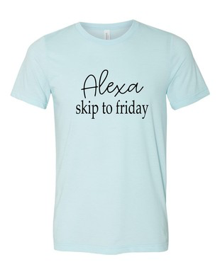 Tops 66 Alexa Skip To Friday Blue Tee
