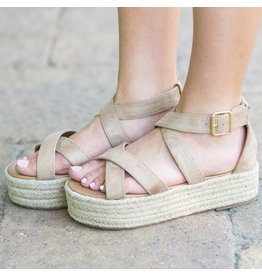 Shoes 54 On My Way Taupe Espadrilles