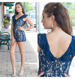 Rompers 48 Lovely Lace Navy Romper