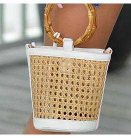 Accessories 10 Bamboo and Straw Perforation Bag