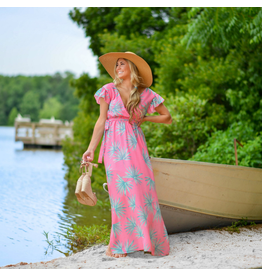 Dresses 22 Trip To The Tropics Pink Maxi Dress