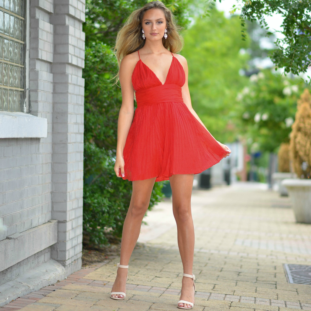 Dresses 22 Bright Occasion Red Tulle Dress