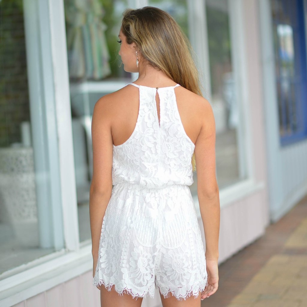 Rompers 48 So Lovely In Lace White Romper