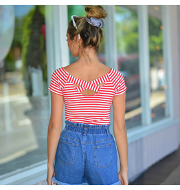 Tops 66 Summer Sizzle Red Stripe Top