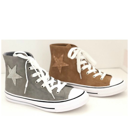 Shoes 54 Superstar High Top Grey Sneakers