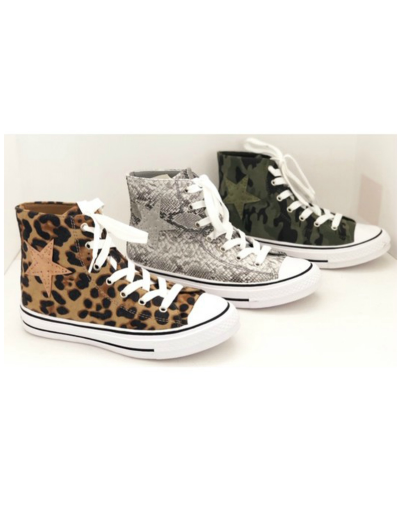 Shoes 54 Superstar High Top Leopard Sneakers