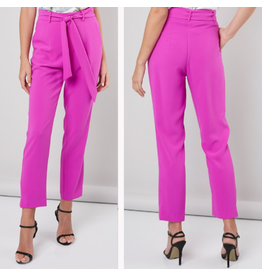 Pants 46 Make The Most Of The Moment Magenta Belted Pants