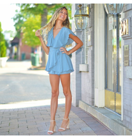 Rompers 48 Wrap It Up Blue Romper