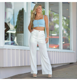 Pants 46 Ocean Breeze White Linen Pants