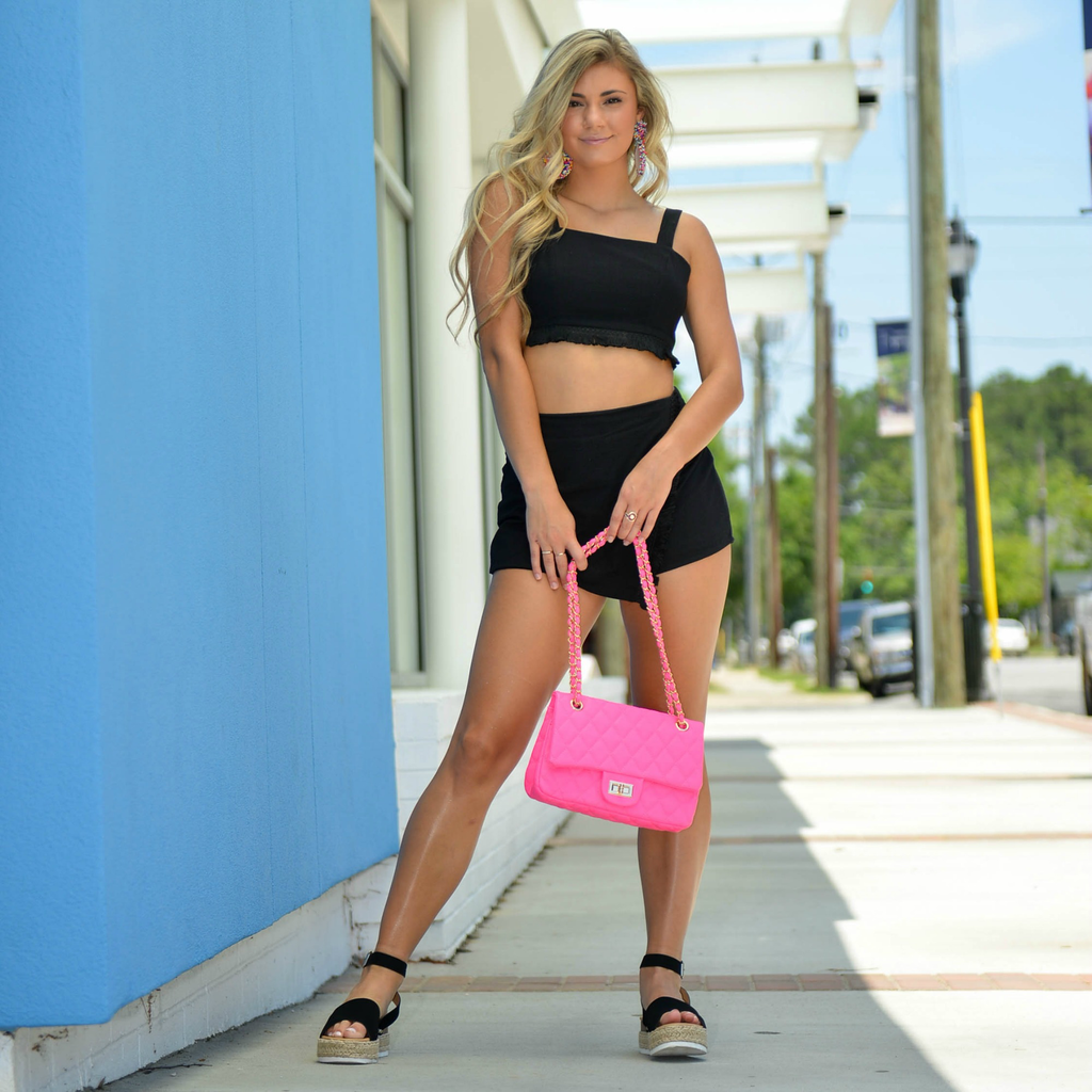 Accessories 10 Neon Pink Quilted Bag
