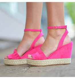 Shoes 54 Hot Pink Summer Wedge
