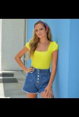 Tops 66 Lemon-Lime Summer Bodysuit