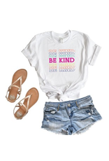 Tops 66 Be Kind Colorful Tee