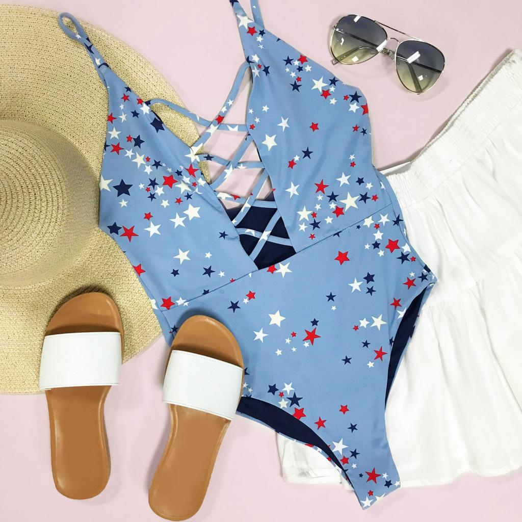 Swimsuits Star Celebration One Piece Swim