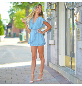 Rompers 48 Wrap It Up Light Blue Romper