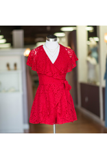 Rompers 48 Lace And Forever Red Wrap Romper