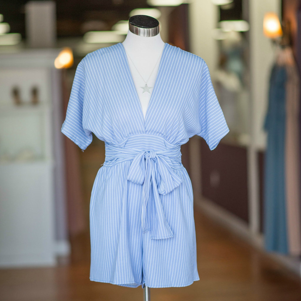 Rompers 48 Celebration Blue Stripe Romper