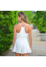 Rompers 48 Party On White Ruffle Romper