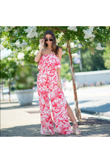 Jumpsuit Floral And Fun Strapless Jumpsuit