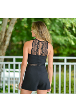Rompers 48 Lace Party LIttle Black Romper
