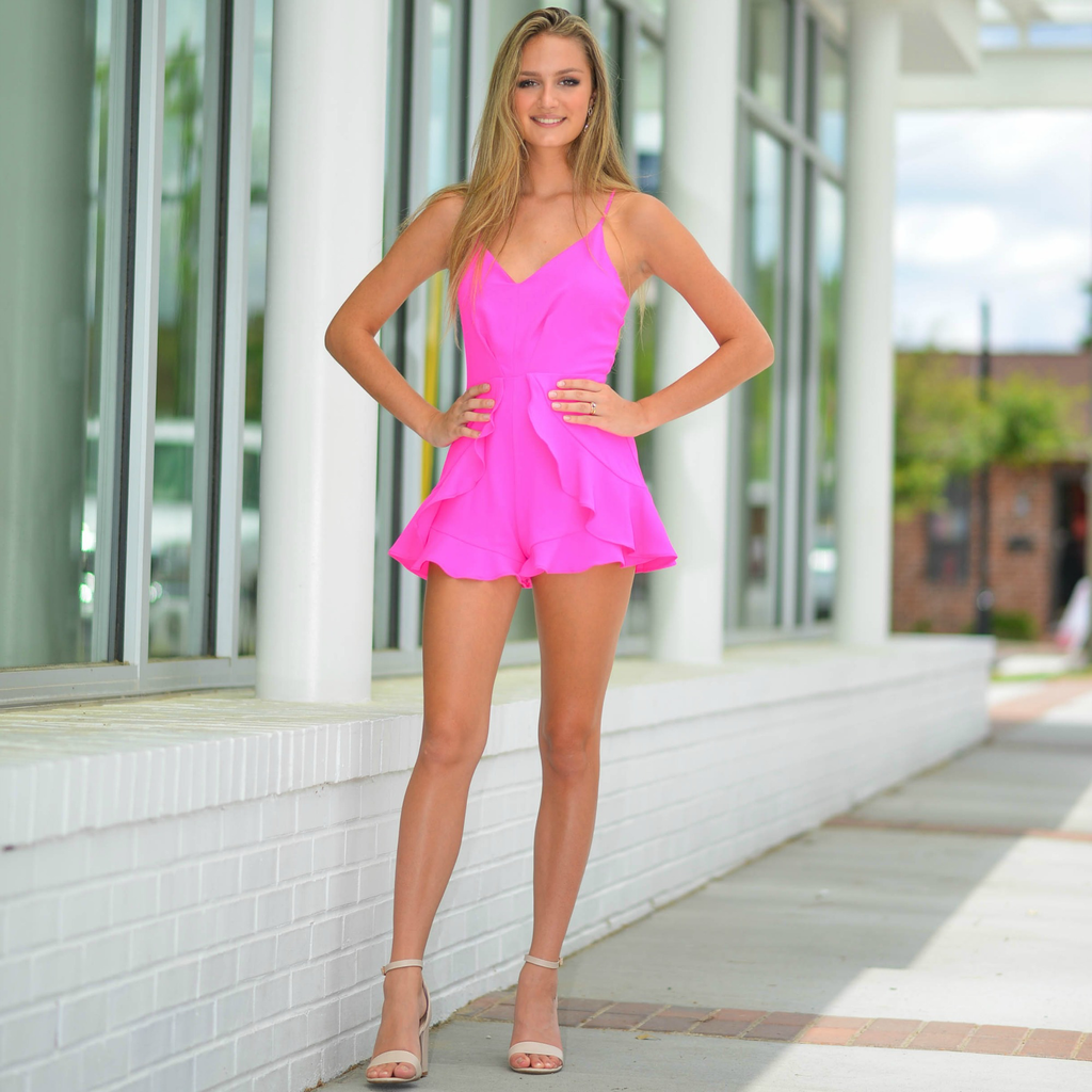 Rompers 48 Hot Pink Party Romper