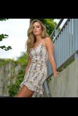 Dresses 22 Sudden Move Smocked Snake Print Dress