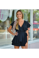Rompers 48 Wrap It Up Black Romper