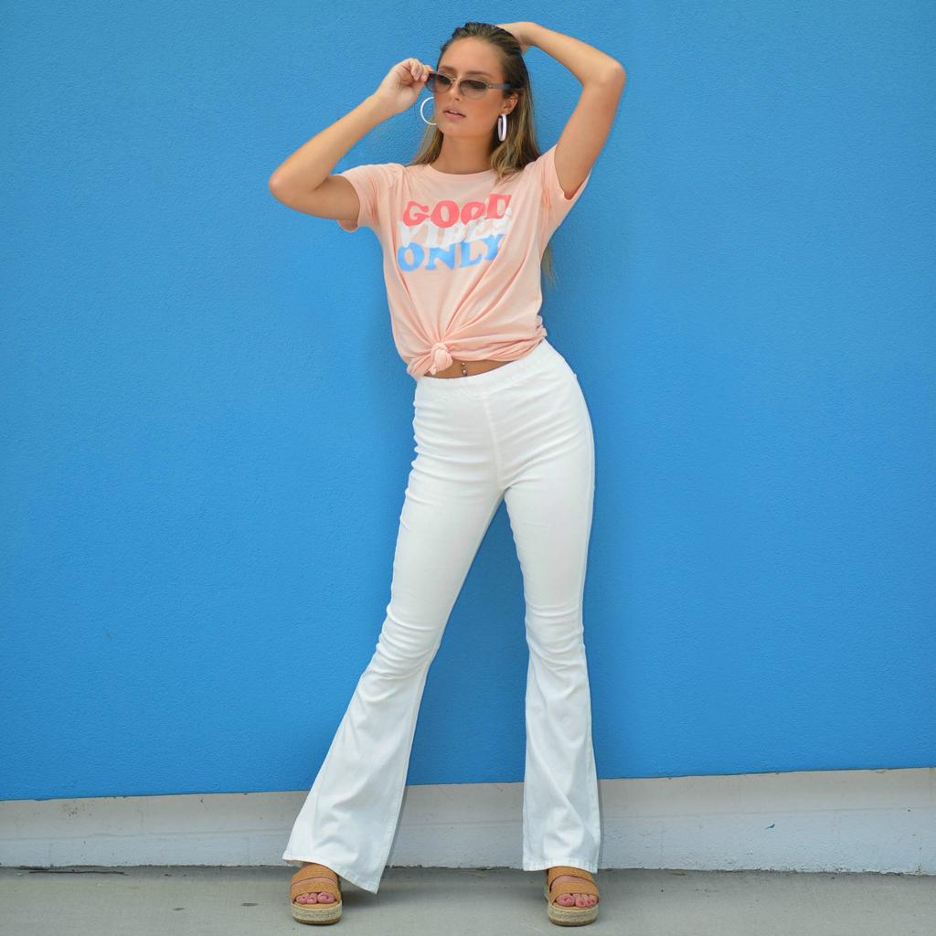 Pants 46 White Summer Flares