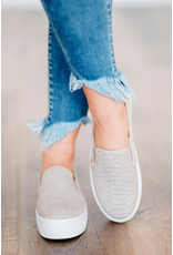 Shoes 54 Tried And True Snake Textured Grey Sneakers