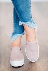 Shoes 54 Tried And True Snake Textured Blush Sneakers