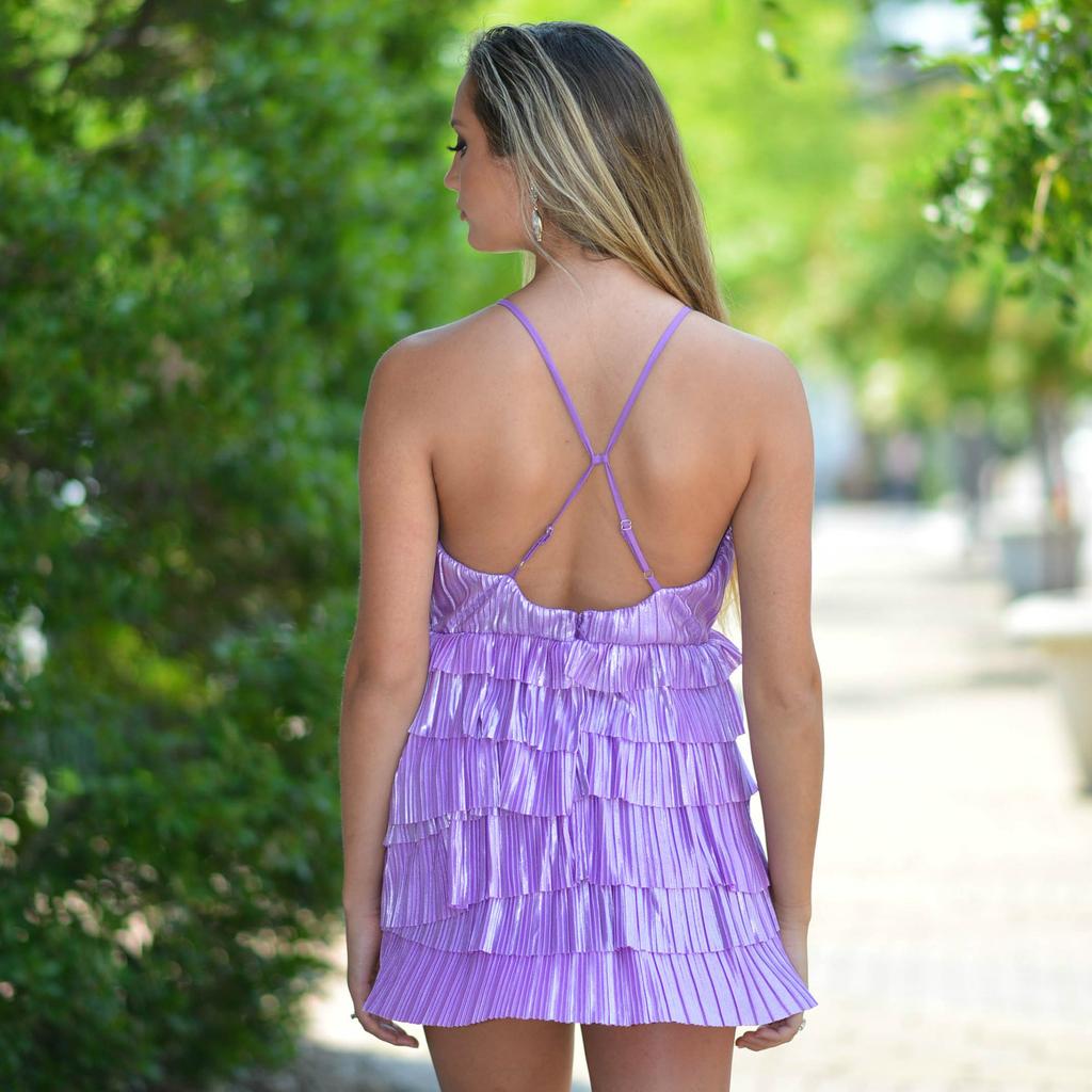 Dresses 22 Shake It Up Lilac Ruffle Dress
