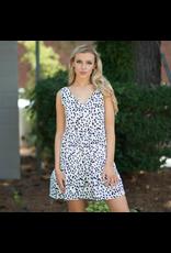Dresses 22 Get Spotted White/Black Leopard Dress