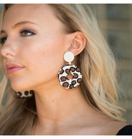 Jewelry 34 Leopard Pattern Circle Bead Earrings