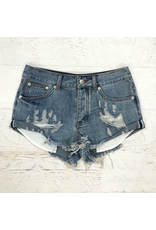 Shorts 58 Medium Denim Distressed Shorts