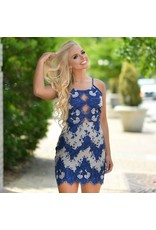 Dresses 22 A Moment In Time Navy Lace Dress