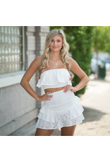 Tops 66 Summer Vacation Smocked White Eyelet Top