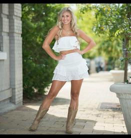 Skirts 62 Summer Vacation Smocked White Eyelet Skirt