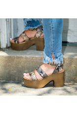 Shoes 54 Wild Stride Snake Wooden Plaforms