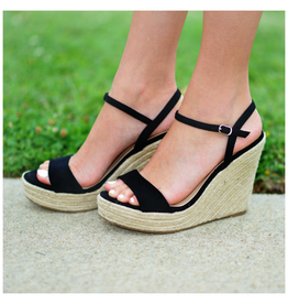 Shoes 54 Summer Solstice Black Espadrille