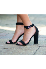 Shoes 54 Living In The Moment Black Block Heels