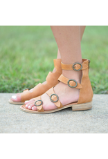 Shoes 54 Free To Be Me Tan Buckle Sandal