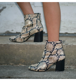 Shoes 54 Snake Beige/Black Bootie