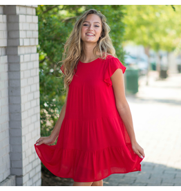 Dresses 22 Ruffle Up Baby Doll Red Dress