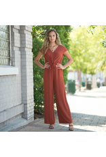 Jumpsuit All The Fall Feels Tie Front Jumpsuit