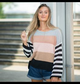 Tops 66 Stripe Hype Sweater